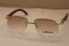 gold wood glasses frames Rimless T8100928 Wood Sunglasses Big Diamond Glasses