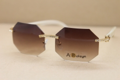 Hot rimless polygon Sunglasses T8307002 Big Diamond Brand Glasses limited edition Glasses