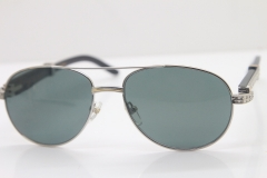 Carter CT Smaller/Big Stones 569 Genuine Natural Original Black Buffalo horn Sunglasses Gold Brown Lens